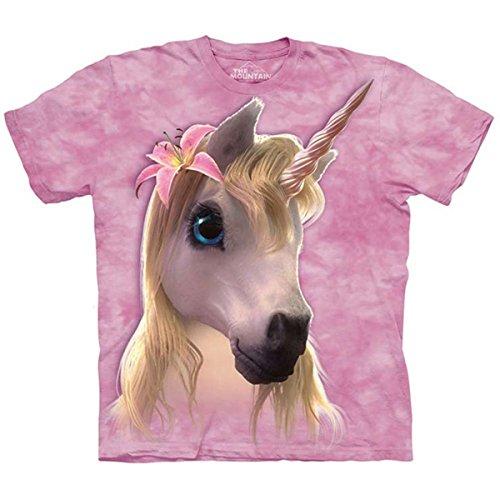 The Mountain Kids Cutie Pie Unicorn T-Shirt, Medium, Pink (Cutie Pie Girl)