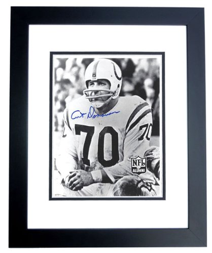 Art Donovan Signed - Autographed Baltimore Colts 8x10 inch Photo BLACK CUSTOM FRAME - Hall of Famer Art Donovan Signed Baltimore Colts