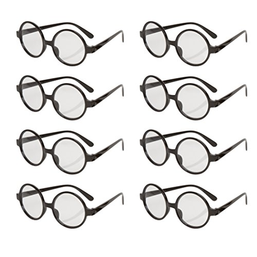 Allures & Illusions Great Party Wizard Glasses (8 Pack), - Potter Reading Harry Glasses