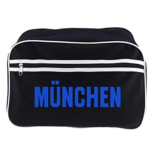 Retrotasche Schriftzug München schwarz