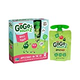 GoGo squeeZ Applesauce on the Go, Apple Peach, 3.2 Ounce Portable BPA-Free Pouches, Gluten-Free, 48 Total Pouches (12 Boxes with 4 Pouches Each)