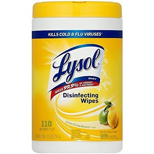 Lysol WlzPsv Disinfecting Wipes, Lemon & Lime Blossom, Pack of 12 by Lysol