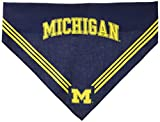 Collegiate Michigan Wolverines Pet Bandana, Medium/Large - Dog Bandana must-have for Birthdays, Parties, Sports Games etc.