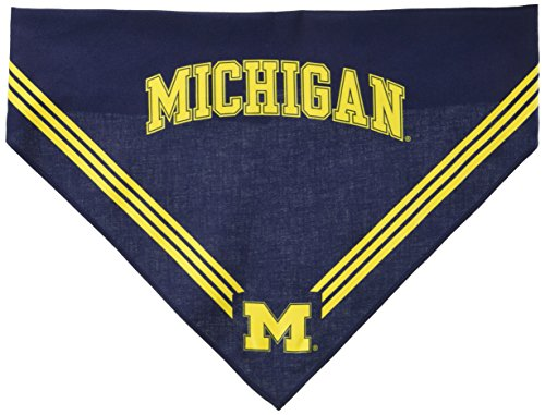 Collegiate Michigan Wolverines Pet Bandana, Medium/Large - Dog Bandana must-have for Birthdays, Parties, Sports Games etc. by Sporty K9 (Image #1)