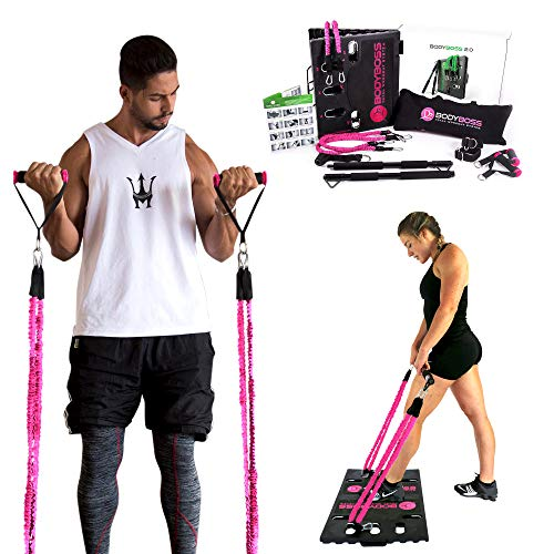 BodyBoss Home Gym 2.0 by 1loop - Full Portable Gym - Full Body Workouts for Home, Travel or Anywhere You Take It.