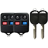 KeylessOption Keyless Entry Remote Control Fob Uncut Blank Car Ignition Key For CWTWB1U345, GQ43VT11T, H92 (Pack of 2)