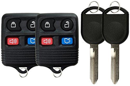 KeylessOption Keyless Entry Remote Control Fob Uncut Blank Car Ignition Key For CWTWB1U345, GQ43VT11T, H92 (Pack of 2)