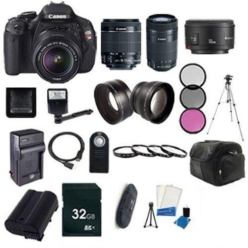 Canon EOS Rebel T5i Digital SLR Camera with EF-S 18-55mm f/3.5-5.6 IS STM Lens + Canon EF-S 55-250mm F4-5.6 IS STM Lens