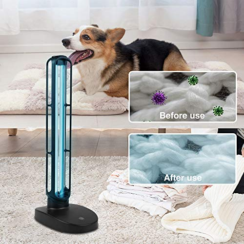 【US Quickly Shipping】38W UV-C Light, Ultravioet Dis1nfection Lamp with Remote Control 3-Timer, Ultravioet Ster1lizer with Ozon for Living Room Bedroom Household Kitchen Hotel Office
