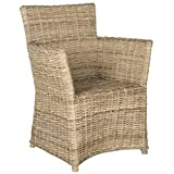 Safavieh Home Collection Natuna Soft Grey Arm Chair For Sale