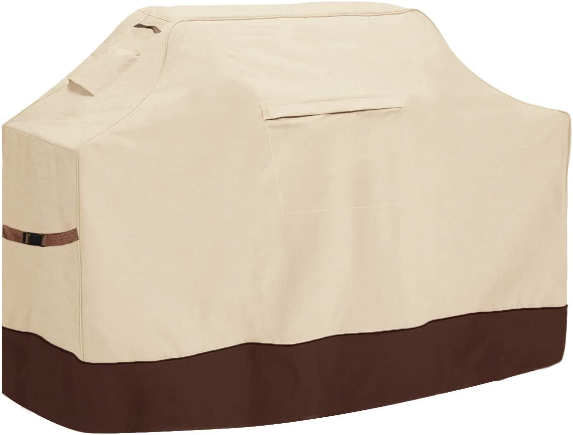 Vailge Grill Cover,58-inch Waterproof BBQ Cover,600D Heavy Duty Gas Grill Cover, UV & Dust & Rip & Fading Resistant,Suitable for Weber, Brinkmann, Char Broil Grills and More,Beige