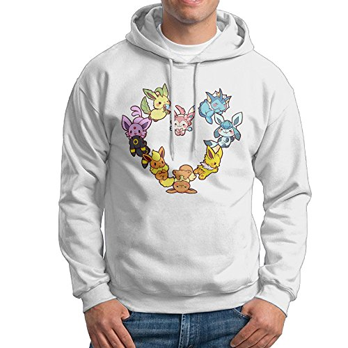 MEGGE Eevee Family Heart Men's Hoody White S ()