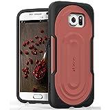 Vena® Samsung Galaxy S6 Case [vArmor] Ultimate Protection [Slim | Heavy Duty] Hybrid Case Cover for Galaxy S6 (Black / Marsala)