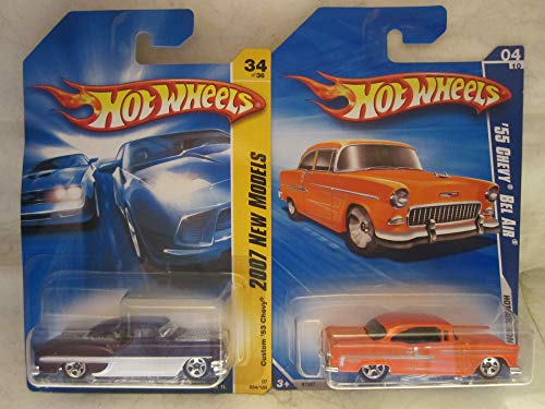 Hot Wheels Custom '53 Chevy & '55 Chevy Bel Air Die Cast 1/64 Scale 2 Car Bundle!