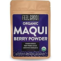 Organic Maqui Powder - 2oz Resealable Bag - 100% Raw From Chile - by Feel Good Organics