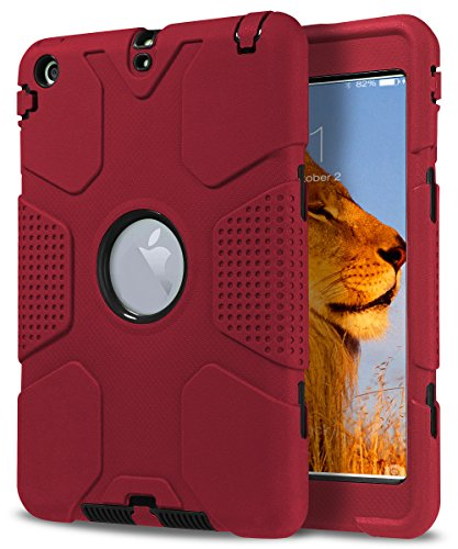 iPad Mini Case, iPad Mini 2 Case,iPad Mini 3 Case,TOPSKY [Robot Series] High Impact Defender Shockproof Case For iPad Mini/ iPad Mini 2/ iPad Mini 3, Red Black (Robot Ipad Mini Case compare prices)