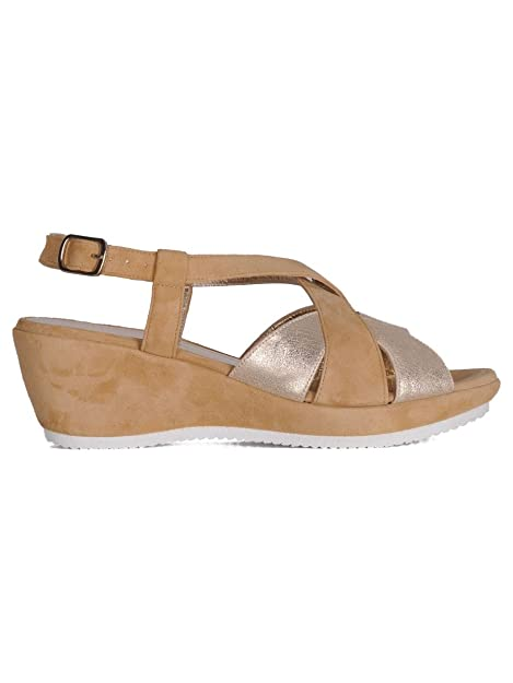purchase cheap 43475 b0d8d CERVONE Sandali Donna 3726Beige Camoscio Beige: Amazon.it ...