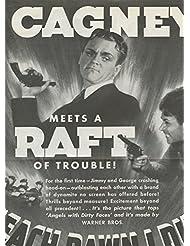 James Cagney George Raft 1930's original clipping magazine photo 1pg 9x12 #R2917