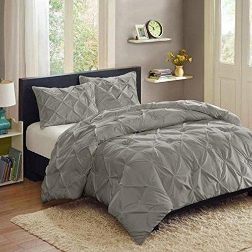 Better Homes and Gardens Pintuck 3-Piece Bedding Comforter Mini Set, Grey - FULL/QUEEN from Better Homes & Gardens