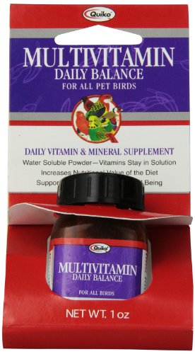 Quiko Multivitamin Daily Balance Vitamin & Mineral Supplement for All Pet Birds, 1.0 Ounce