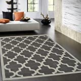 quadrilobe tapis de salon 120x170 cm gris luminaires et eclairage. Black Bedroom Furniture Sets. Home Design Ideas