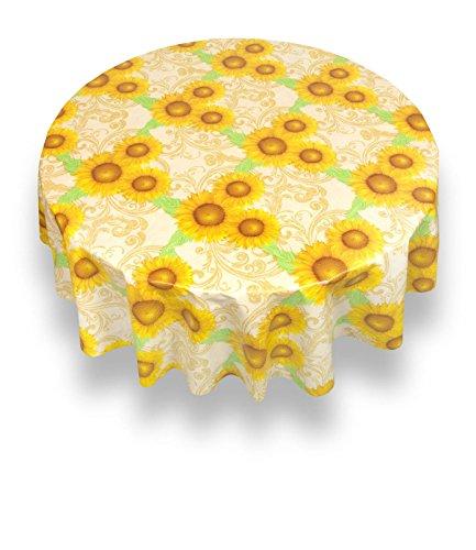 (The Pecan Man Tablecloth Sunshine Flannel back Vinyl Tablecloths 60