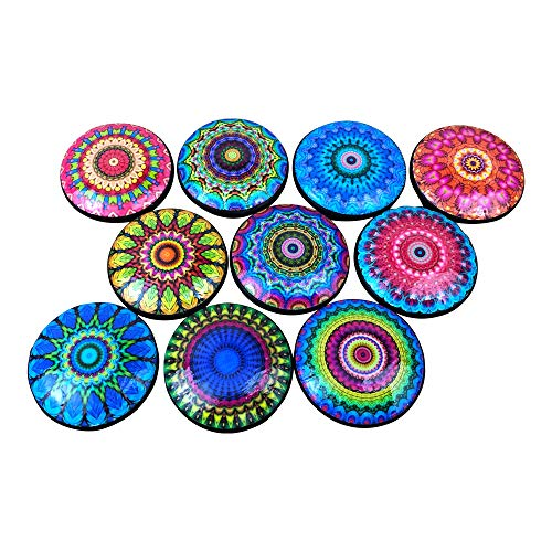Set of 10 Bright Mandala Cabinet Knobs