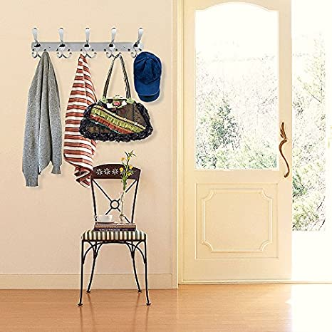 Perchero de pared con 2 paquete 15 Ganchos de Acero Inoxidable para colgar abrigos, batas, sombreros o ropa o utilizarlo como toallero