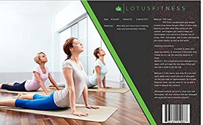 "lotus fitness premium eco yoga mat with strap. Great for yoga, pilates, and stretching. High-quality, biodegradable tpe, extra thick and long at 1/4"" X 72""L X 24""W. lightweight, durable, dark grey."
