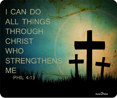 Phil 4:13 I can Do All Things Through Christ Who Strengthens Me Mousepad by Atomic Market