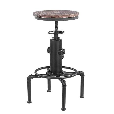Magnificent Amazon Com Liqicai Bar Stool Iron Pipe Industrial Vintage Evergreenethics Interior Chair Design Evergreenethicsorg