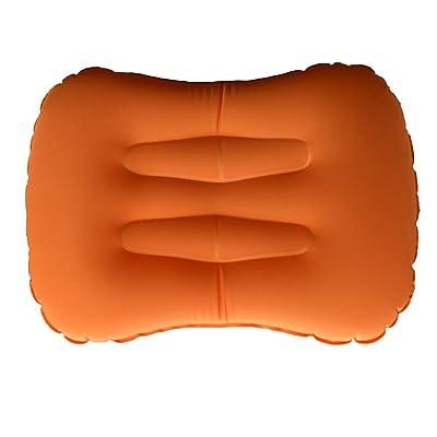 TOOGOO ultra legers Oreillers de voyage / camping gonflables - Oreillers compressibles, confortables et ergonomiques pour le soutien cervical et lombaire et une bonne nuit (orange)