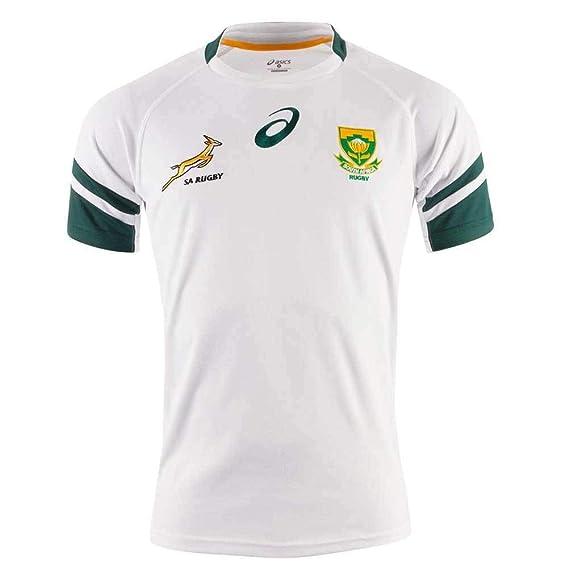 ASICS SPRINGBOKS Loin Shirt Rugby, Blanc, L: