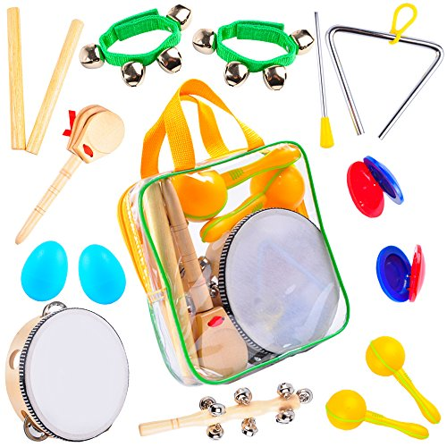 Kids Musical Instruments Set: Best Kids Instrument Set - Perfect Percussion Starter Kit and Musical Toys for Kids 3 Years & Up to Make Beautiful Music - Musical Instrument Kit