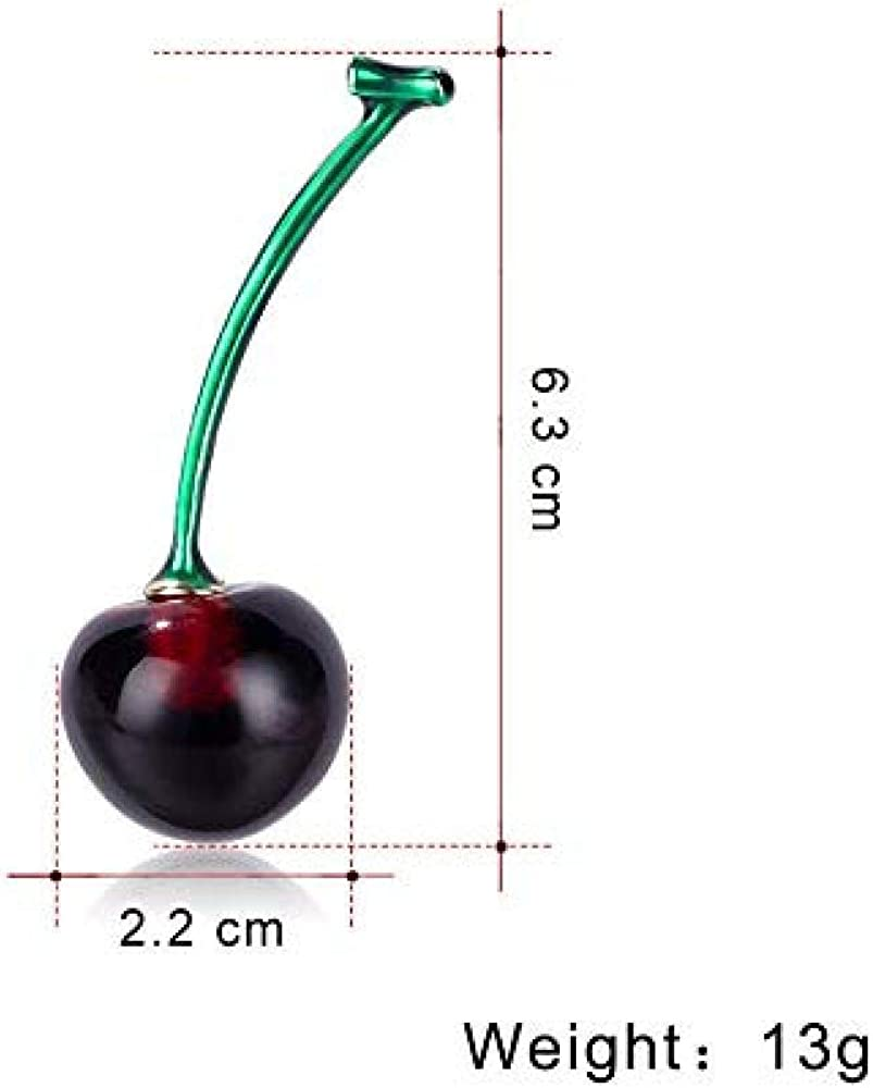 Cherry Lady Corsage Unisex Fashion Pin Badge Fashion Alloy Clothes Accessories