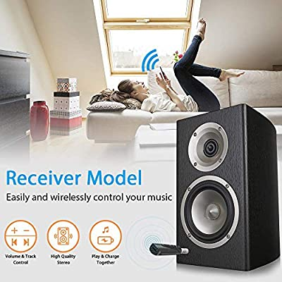 Bluetooth Receiver, Bluetooth Adapter,Portable Wireless Bluetooth Aux Headphones Adapter with Clips Design, Hands-Free Audio Car Kits with 3.5mm Jack Stereo Output: Car Electronics