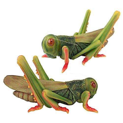 Design Toscano Ricochet the Grasshopper Statue (Set of 2) For Sale