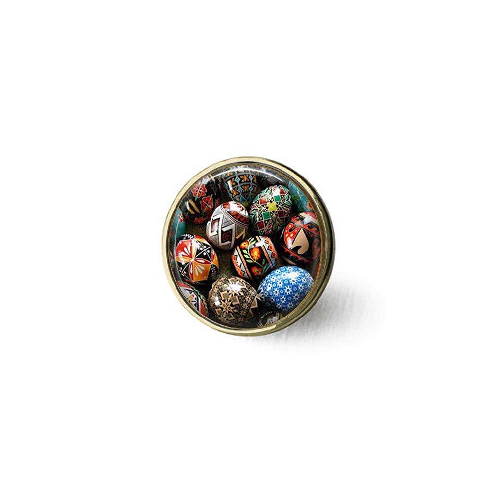 Amazon.com: hars Ukrainian Easter Eggs Adjustable Brooch ...