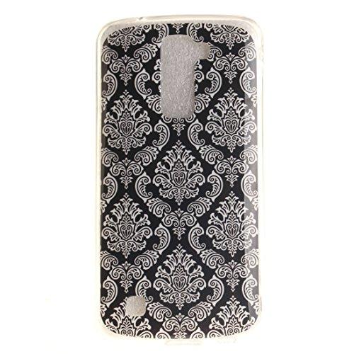 Couverture Peint Hozor Silicone Téléphone Résistant De art Motif Retro Slim LG K10 Cas Arrière De Fit Bord Souple Antichoc Protection Scratch En Cas TPU Transparent U8fAzWU