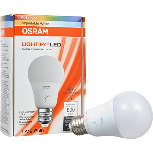 osram led bulb e27 dimmable lightify classic a rgbw 10w led light 60 watt equivalent warm. Black Bedroom Furniture Sets. Home Design Ideas
