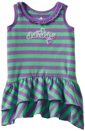 adidas Baby Girls' Play To Win Dress, Medium Purple, 12 Months