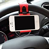 iTimo Universal Car Steering Wheel Mobile Phone Stand Holder Mount Clip Buckle Socket Hands Free for iPhone 6 Plus Samsung