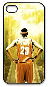 LZHCASE Personalized Protective Case for iPhone 4/4S - Lebron James, NBA Miami Heat
