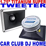 Audiotek 1.75'' 800W CAR PRO DJ CLUB TITANIUM SUPER TWEETER 4'' x 5'' ALL METAL NEW
