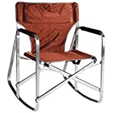 Ming's Mark SL1205BRN Brown Rocking Director Chair