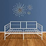 Best Price Mattress Easy Set-up Daybed/Sleeper Featuring Strong Frame, Sturdy and Durable Steel Slats, Twin, White