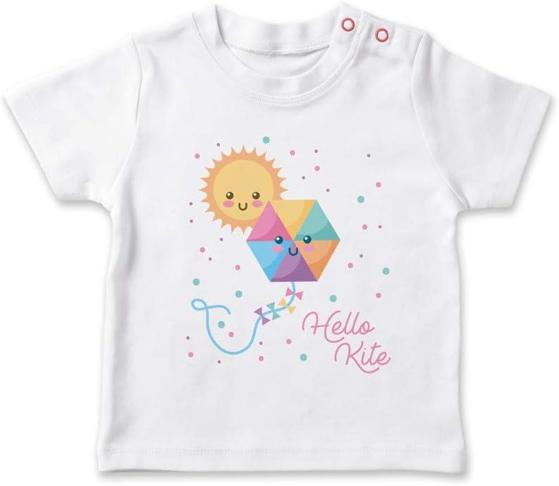 SUPERMOLON Camiseta bebé Hello Kite Blanco 1-2 años
