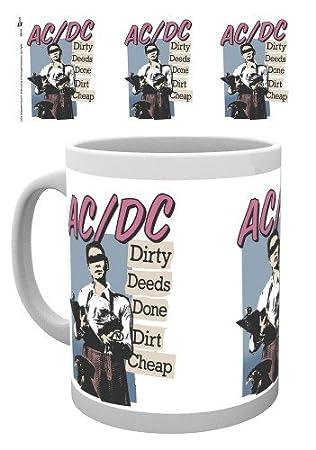 Set: AC/DC, Dirty Deeds Taza Foto (9x8 cm) Y 1 AC/DC ...