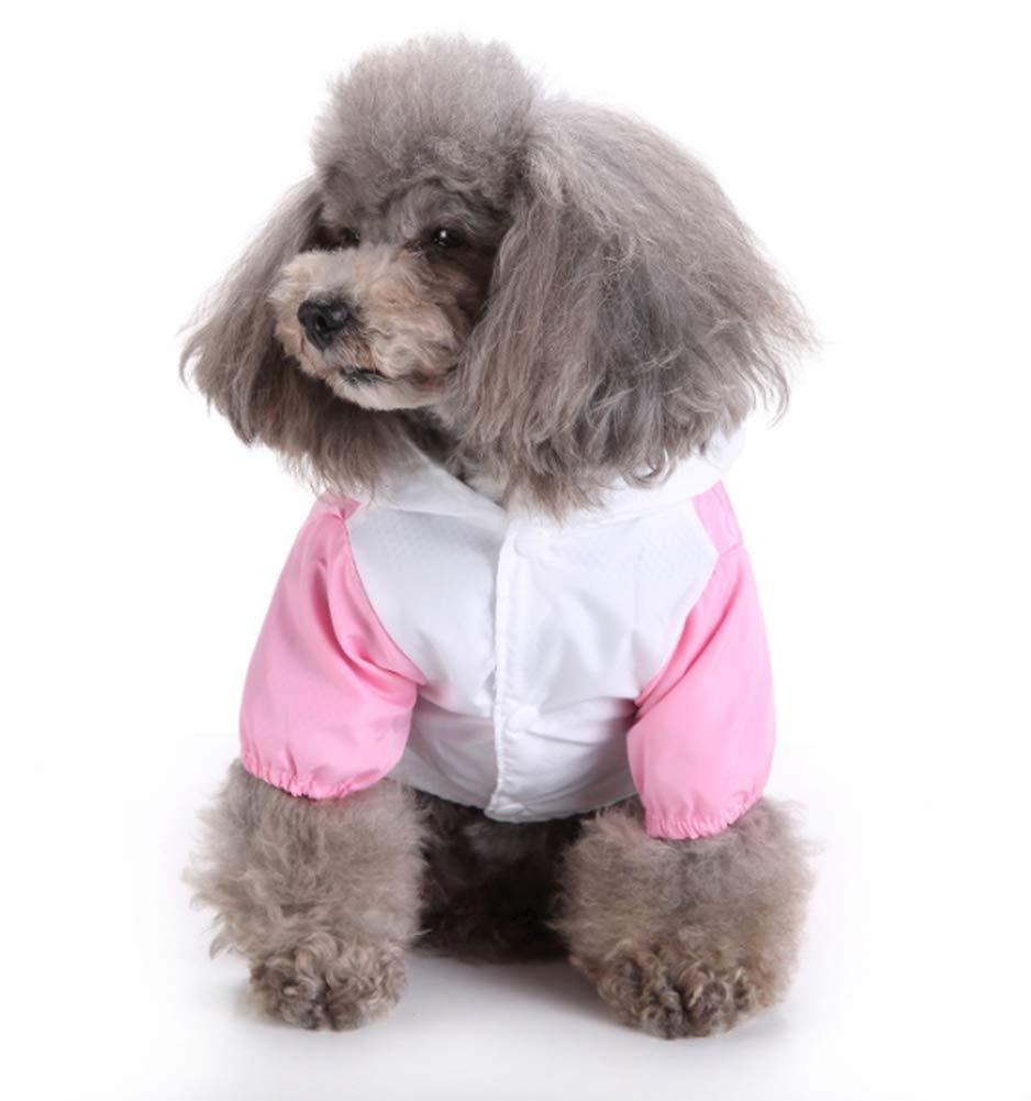 Small Pet Dog Raincoat Hooded Raincoat Pet Waterproof Puppy Dog Jacket Outdoor Coat Little White Rabbit Style Coat for Small Medium Large Dog