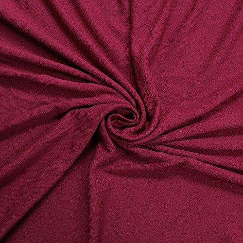Burgundy Crepe Viscose Fabric Jersey Knit Viscose Jersey Fabric Soft Fabric ()